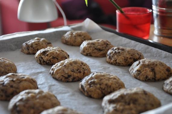 Recette facile de cookies moelleux chocolat coco - Recette cookies chocolat moelleux ...